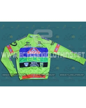 2014 Yellow Fluo- Neri Sottoli - Long Sleeve Cycling Jersey
