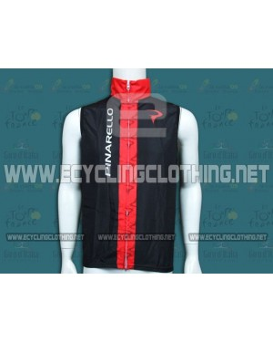 2014 Pinarello Black and Red Cycling Wind Vest