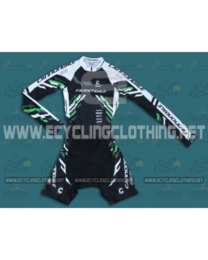 2014 Cannondale Black - Long Sleeve Cycling Skinsuit Time Trail Skin Suits