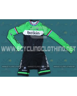 2014 Team Belkin - Long Sleeve Cycling Skinsuit Time Trail Skin Suits