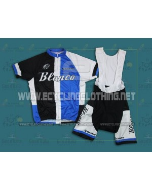 2013 Black And Blue Giant Blanco - Short Sleeve Cycling Jersey And Bib Shorts