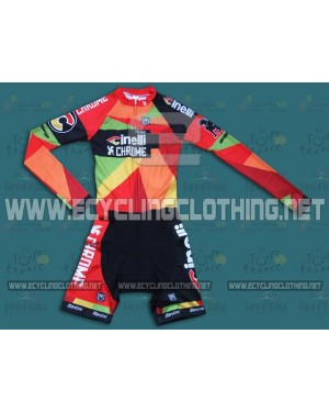 2014 Team Cinelli Chrome - Long Sleeve Cycling Skinsuit Time Trail Skin Suits