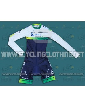 2014 Orica - Green EDGE - Long Sleeve Cycling Skinsuit Time Trail Skin Suits